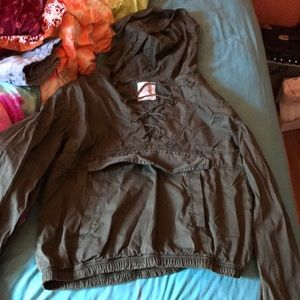 jean material jacket. worn once